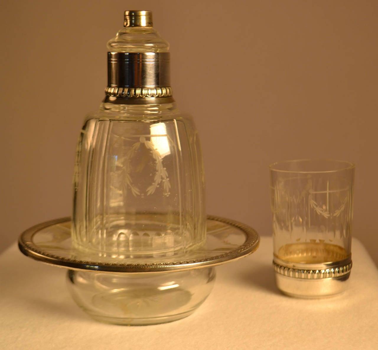 sterling silver and crystal charles barrier verre d 39 eau. Black Bedroom Furniture Sets. Home Design Ideas