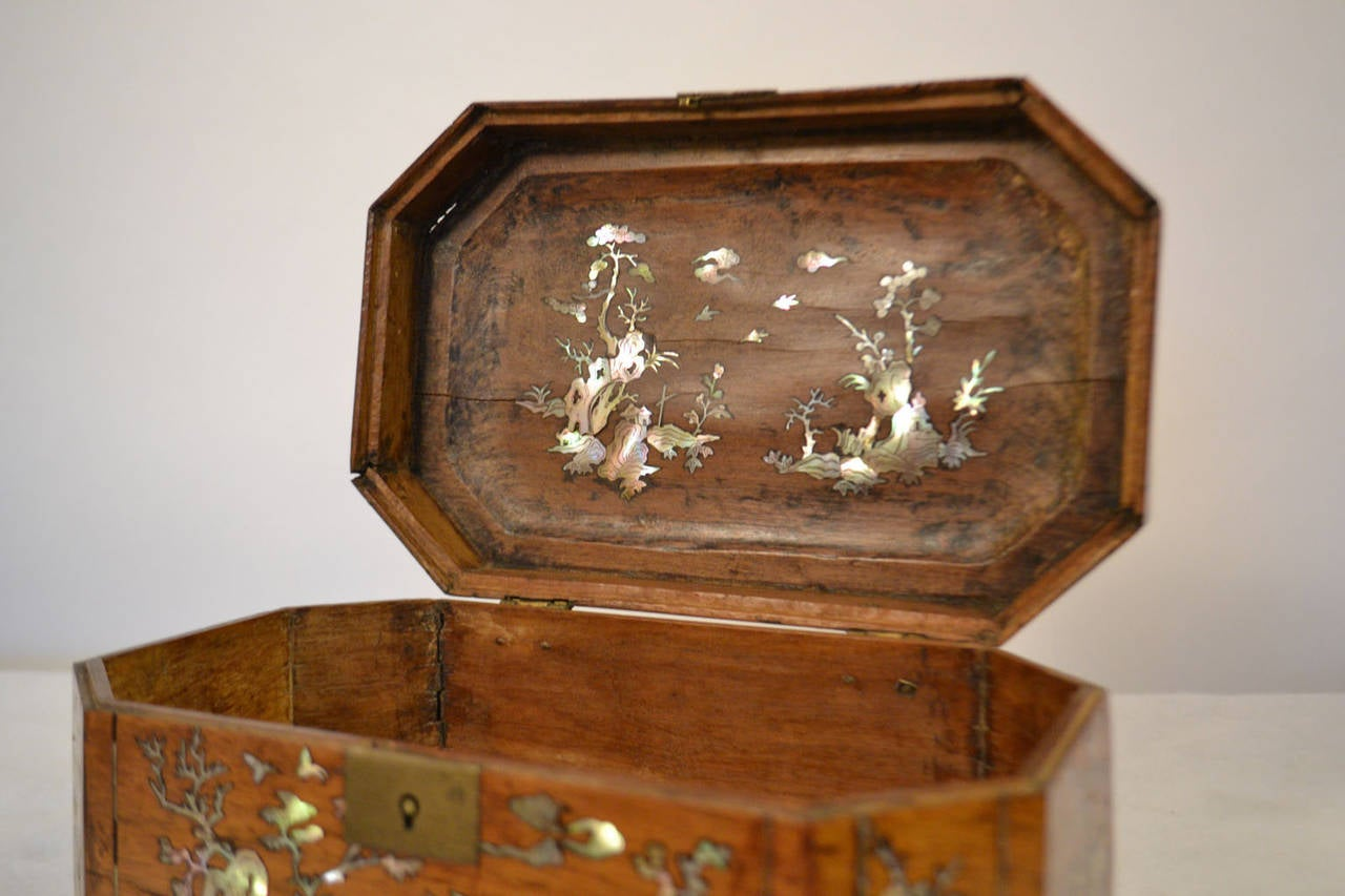 19th century french colonial wooden box at 1stdibs for 19th century french cuisine