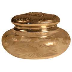 19th Century Small Eugene Lefebvre Engraved Crystal Box
