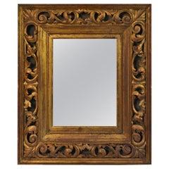 Italian Carved Wood Giltwood Frame