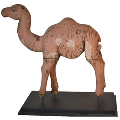 19th Century Carved Wooden Camel