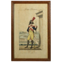 19th C., Framed Empire Period Engraving of French Cavalry( a collection of 15)