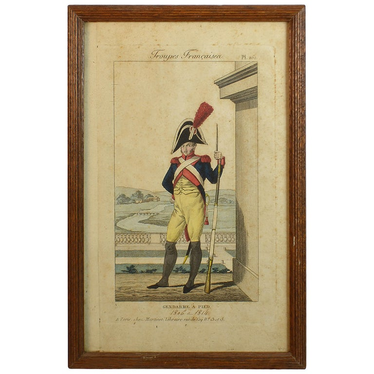 19th C., Framed Empire Period Engraving of French Cavalry( a collection of 15) For Sale