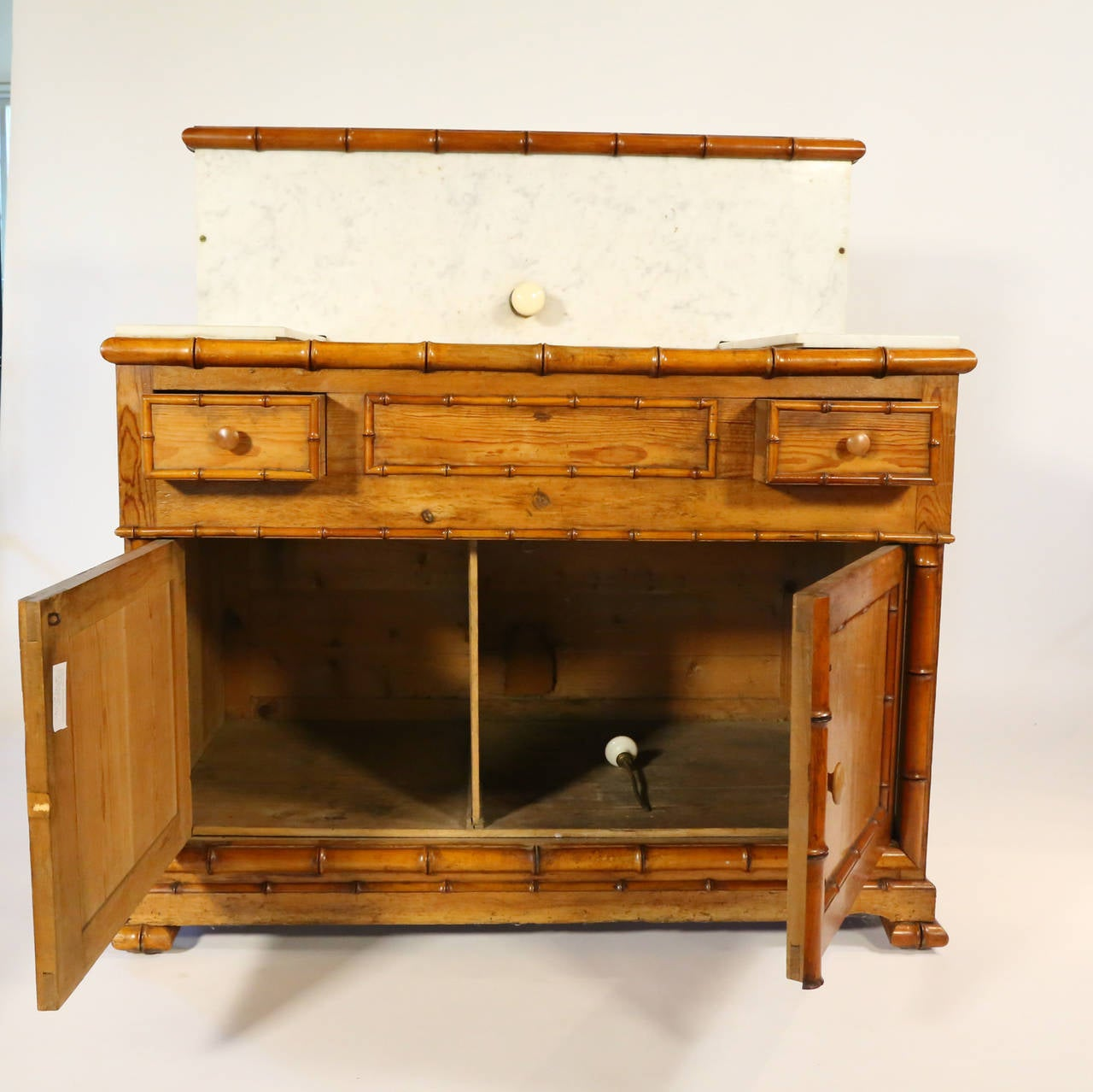 19th century pair of bamboo washroom cabinets for sale at for 19th century kitchen cabinets