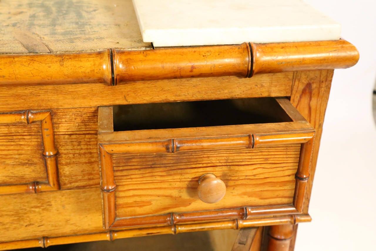 19th century pair of bamboo washroom cabinets for sale at for Bamboo kitchen cabinets for sale