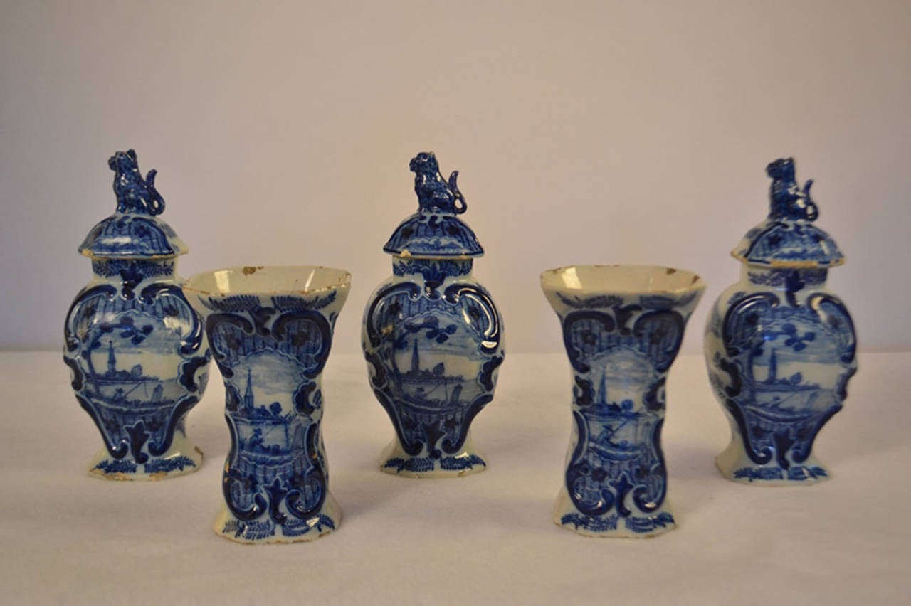 18th century dutch faience from delft for sale at 1stdibs beautiful set of five delft vases three with lids the markings indicate the manufacturer reviewsmspy