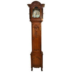 19th Century Cherry Long CaseClock