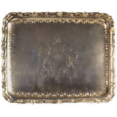 19th Century Sterling Silver Tray