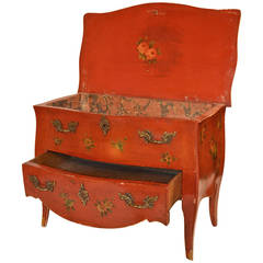 Turn-of-the-century Small Painted Commode, Apprentice Piece