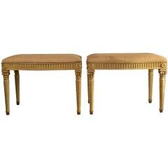 19th Century Pair of Louis XVI Style Footstools