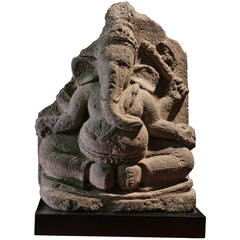 11th Century Ganesh in Volcanic Stone from Java