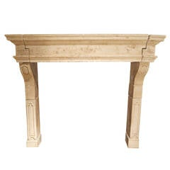 Late 18th Century French Stone Fireplace Surround