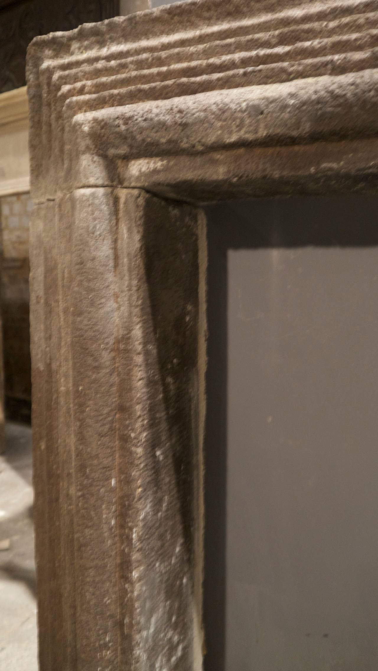 Antique 18th Century Italian Stone Fireplace Surround at 1stdibs