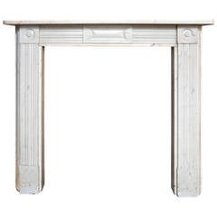 Antique Statuary White Georgian Marble Fireplace Surround