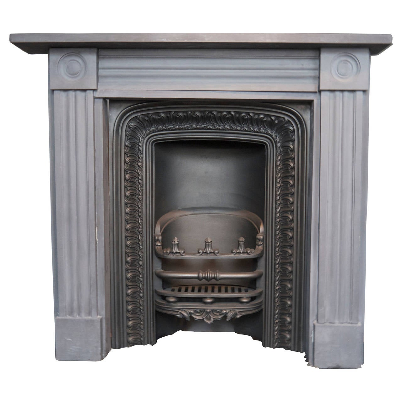 original georgian slate bull u0027s eye fireplace surround for sale at