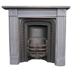 Original Georgian Slate Bull's-Eye Fireplace Surround
