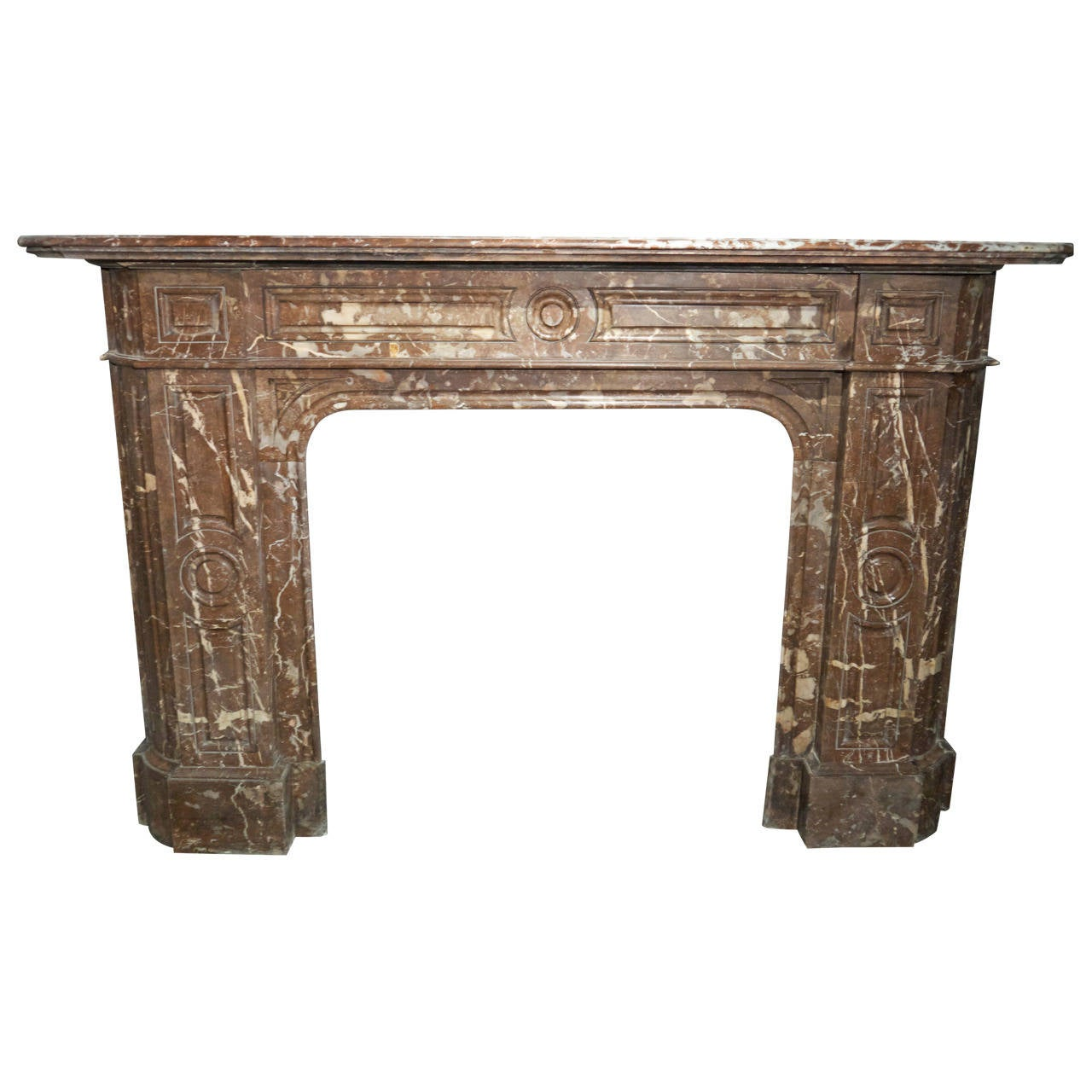 Victorian antique Rouge Royale Marble Fireplace Surround
