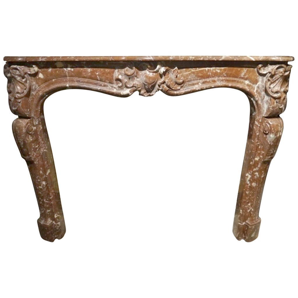 this antique louis xv style marble fireplace surround is no longer
