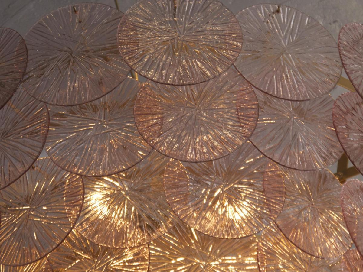 1970s Murano Disc Chandelier At 1stdibs