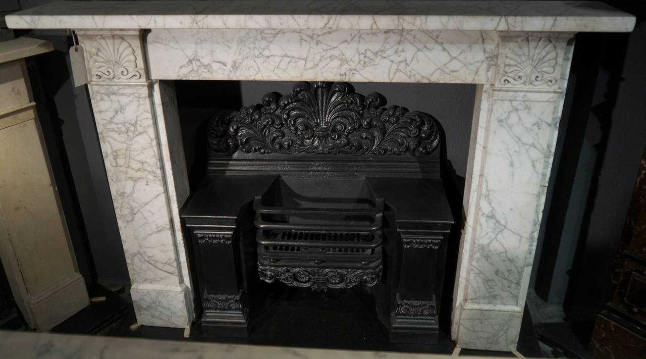 pencil veined georgian marble fireplace surround at 1stdibs