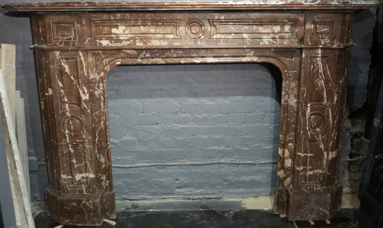 Victorian rouge royale marble fireplace surround for sale for Marble mantels for sale