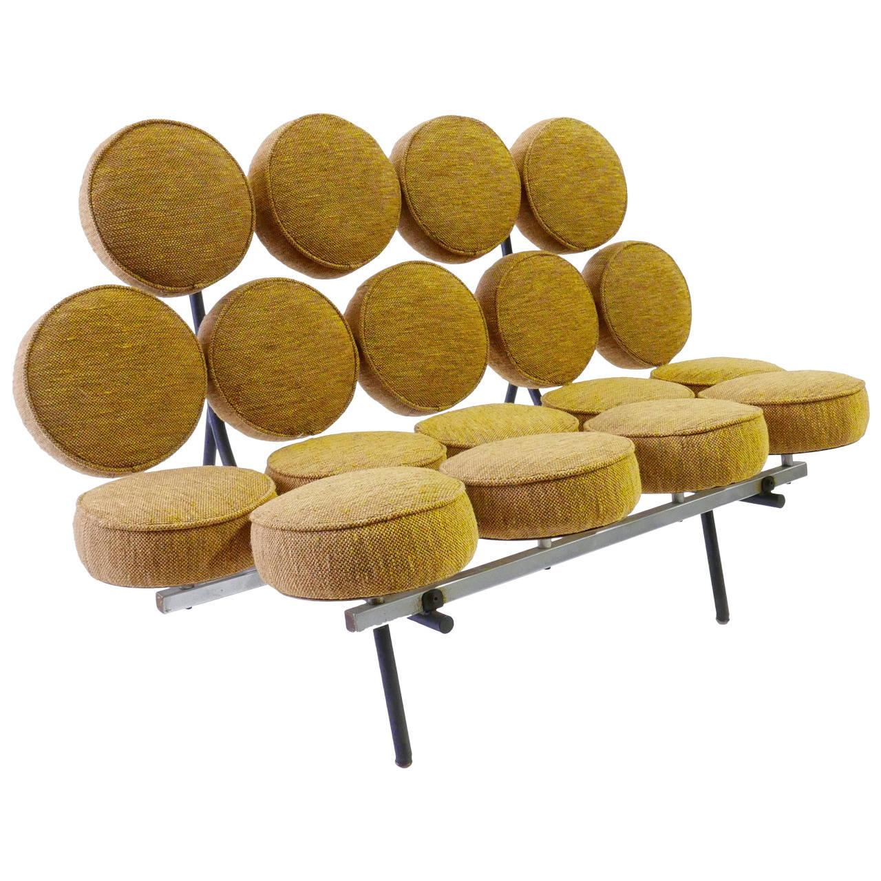 George Nelson Marshmallow Sofa For Herman Miller At 1stdibs