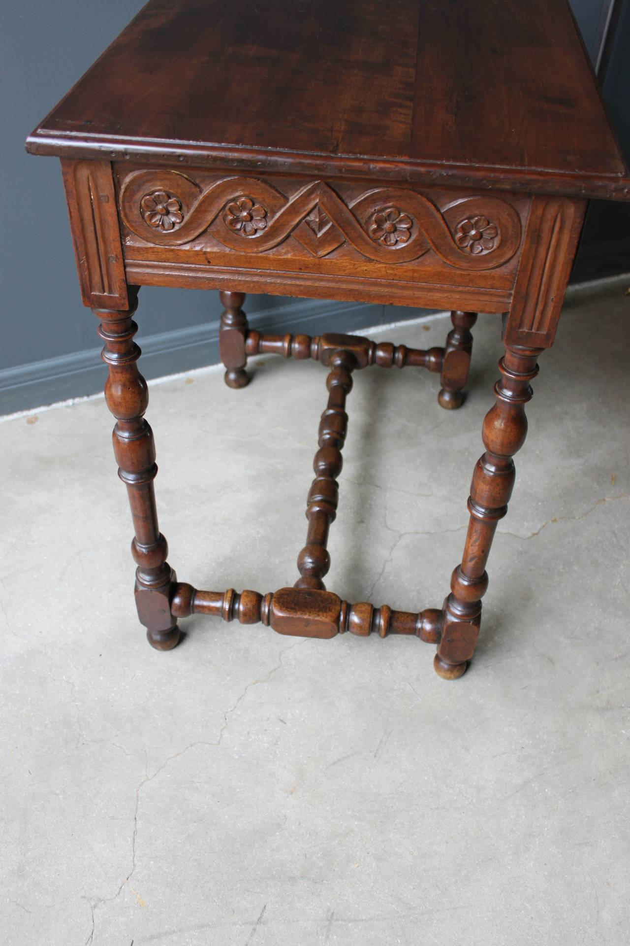 carved walnut louis xiii table france 18th century at 1stdibs. Black Bedroom Furniture Sets. Home Design Ideas