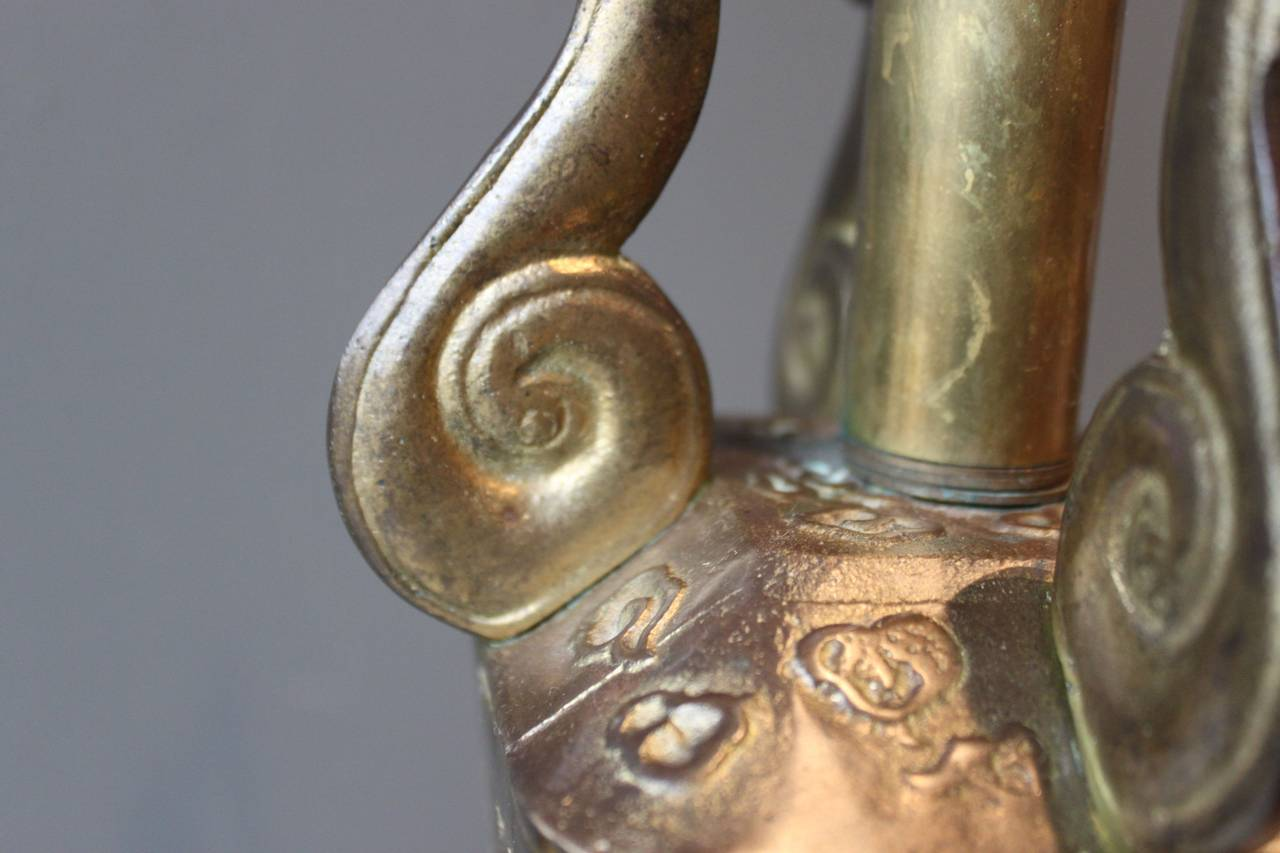 Asian Bronze Lamp in the Style of Marbro, circa 1970 For Sale 3