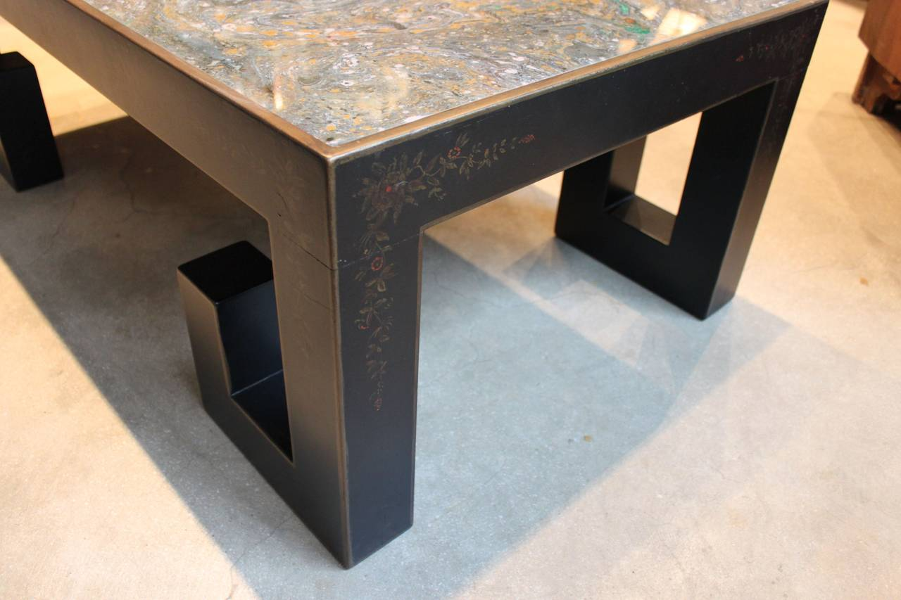 Chinoiserie Coffee Or Cocktail Table With Glomis Top For Sale At 1stdibs