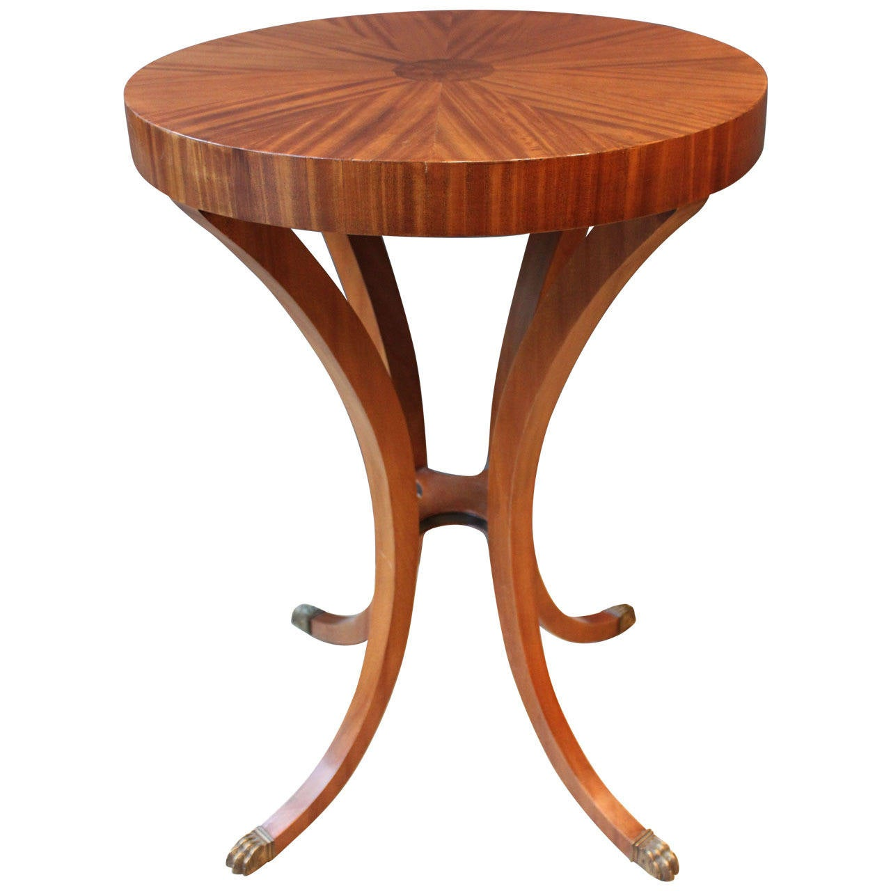 art deco occasional table with brass paw feet circa 1920 at 1stdibs. Black Bedroom Furniture Sets. Home Design Ideas