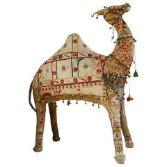 Whimsical Tapestry Camel, circa 1940