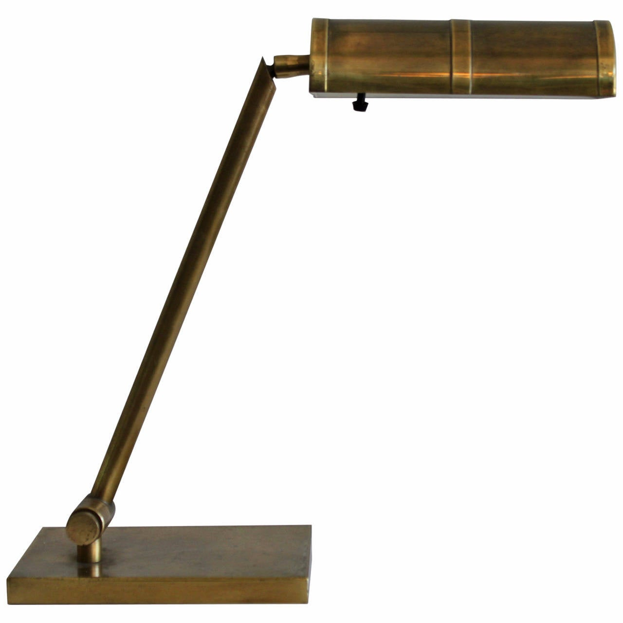 Fantastic This Swedish Modernist Solid Brass Table Lamp With Adjustable Shade Is