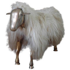Lamb Sculpture or Ottoman in the Manner of Claude Lalanne, c. 1960