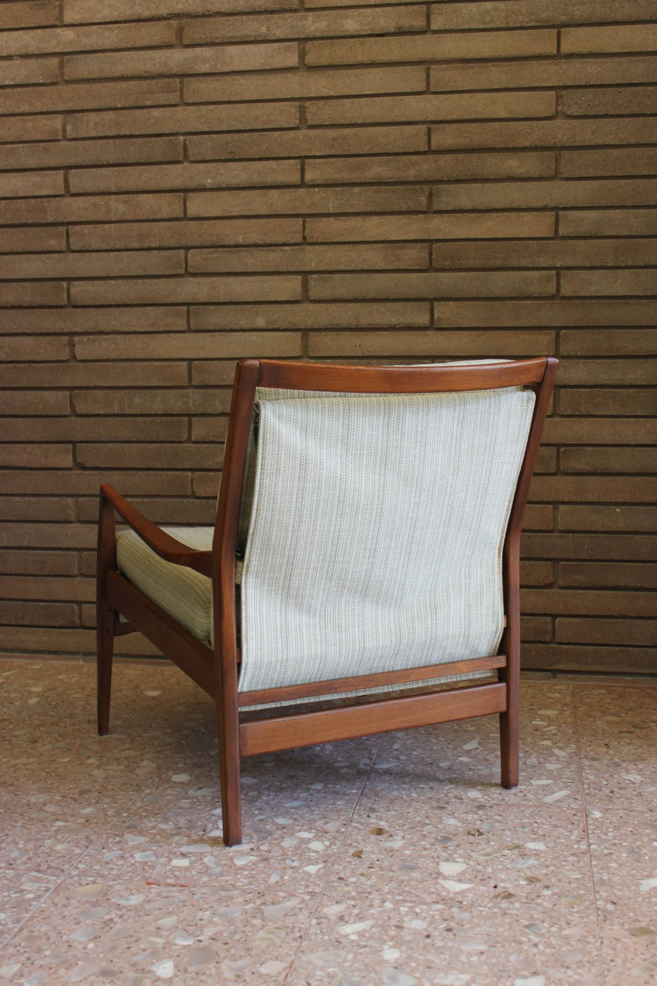 Mid Century Modern Danish Teak Lounge Chair and Ottoman at 1stdibs
