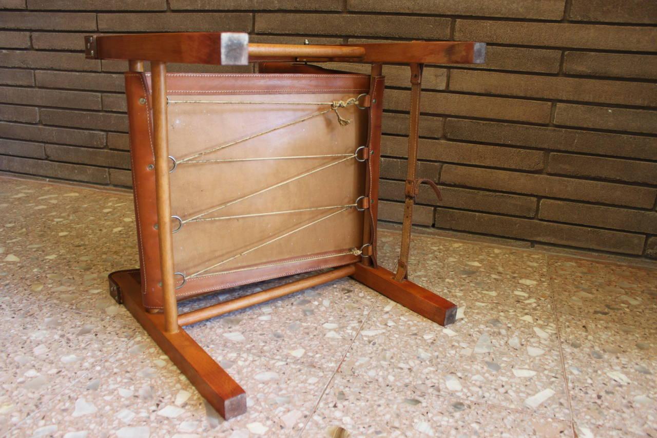 Cognac Leather Safari Chair 4