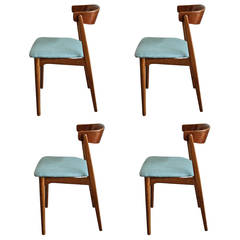 Set of Four Mid-Century Modern Teak Chairs