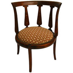 19th Century English Corner Chair with Mother-of-pearl Inlay