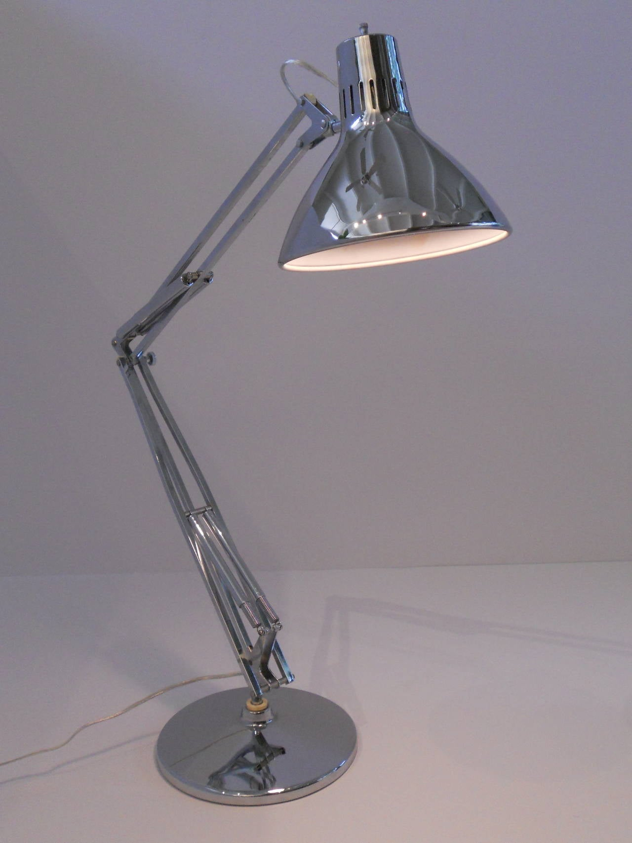 Contemporary Articulated Chrome Desk Lamp Or Task Light