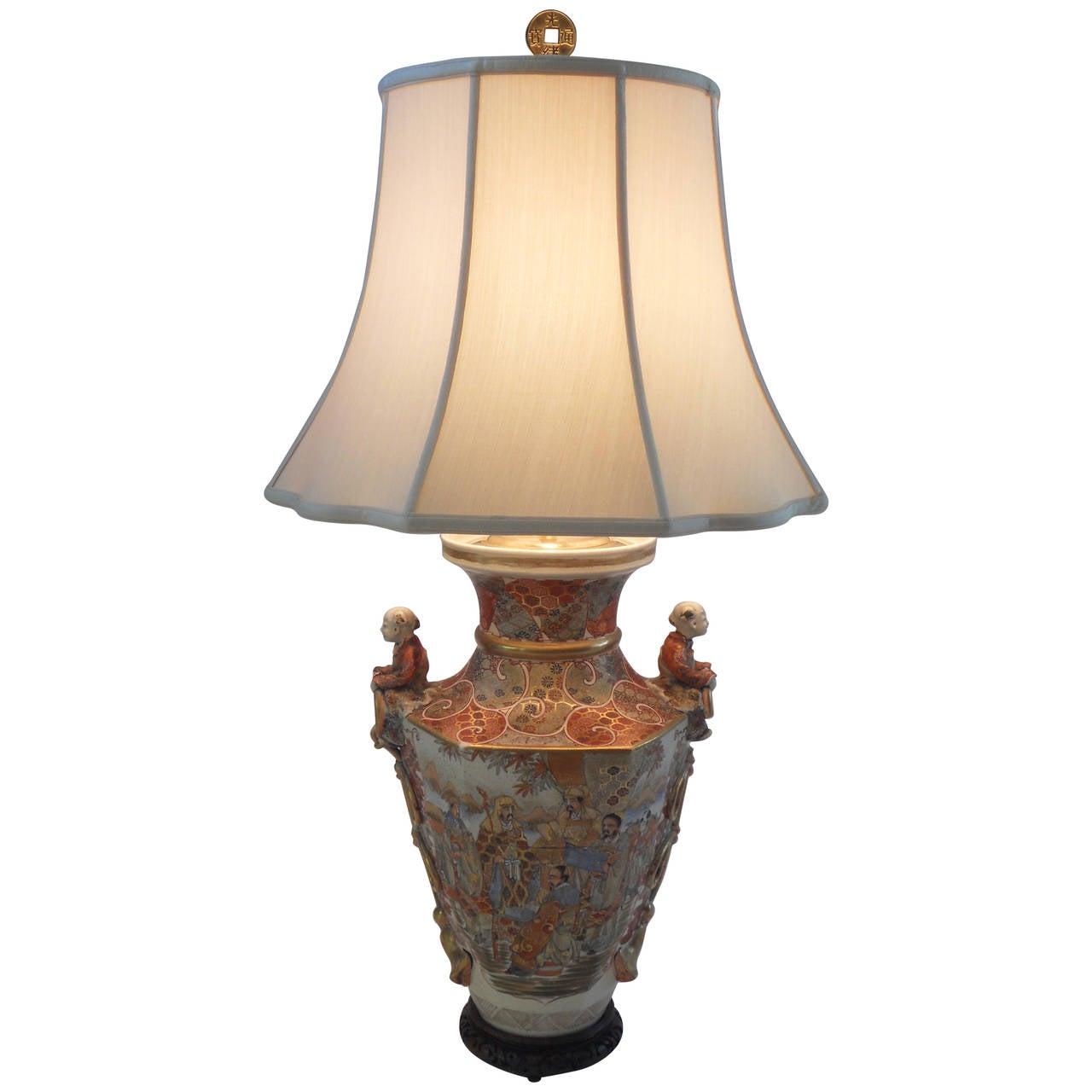 19th Century Satsuma Vase as a Lamp