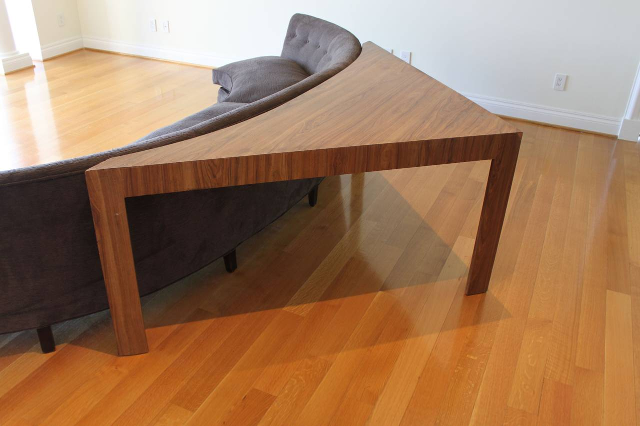 Harvey Probber Style Curved Sofa And Triangle Table At 1stdibs