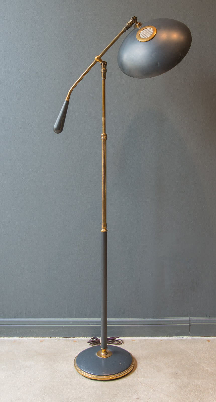 Mid 20th Century Lightolier Counterbalance Floor Lamp By