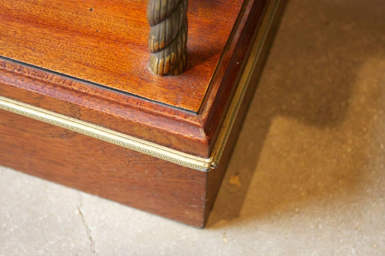 etagere bookshelf with bronze trimmed shelves and brass france circa 1920 at 1stdibs. Black Bedroom Furniture Sets. Home Design Ideas