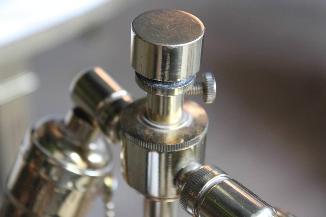 Mid Century Brass Sphere Karl Springer Table Lamp At 1stdibs