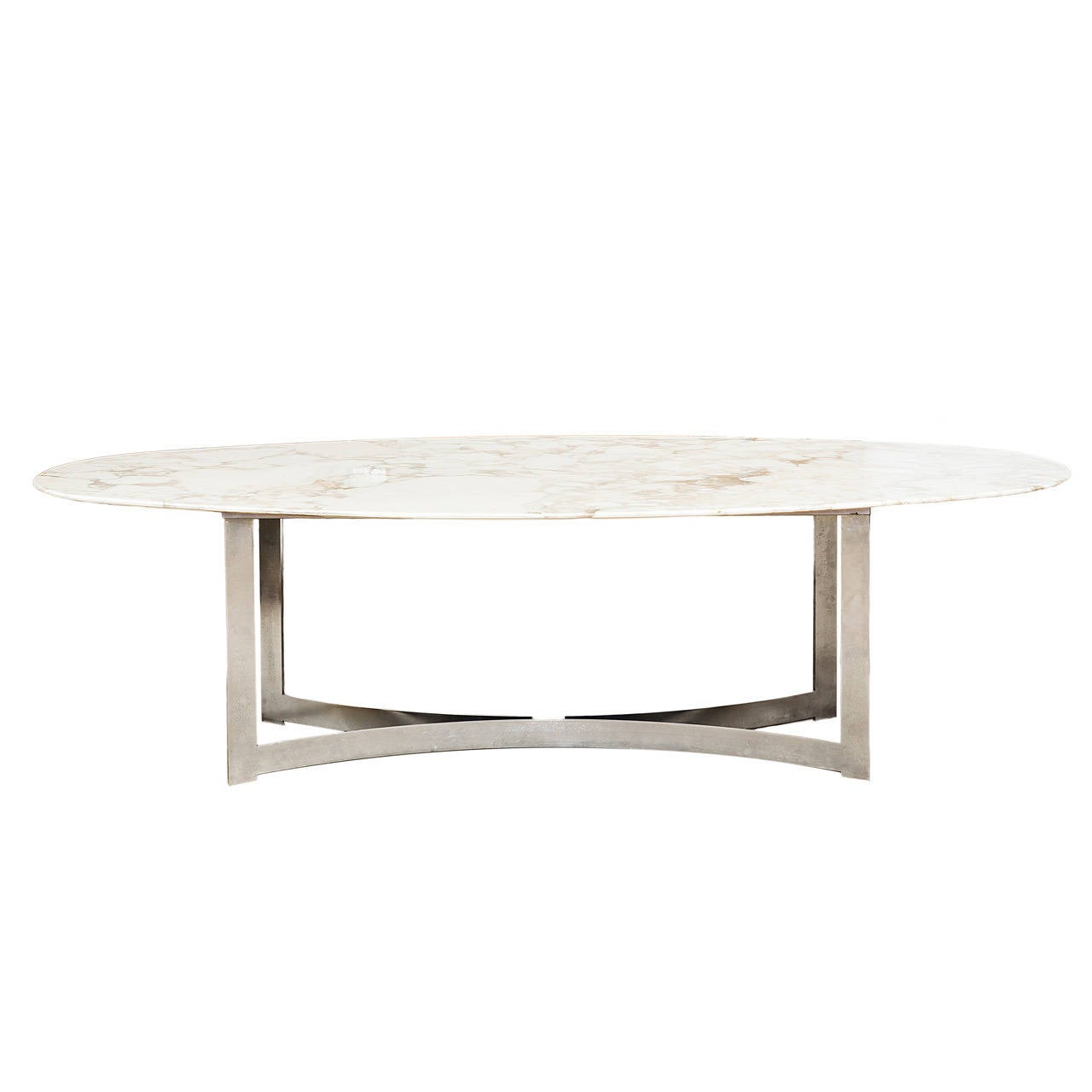 Oval marble top dining table at 1stdibs for Marble dining room table