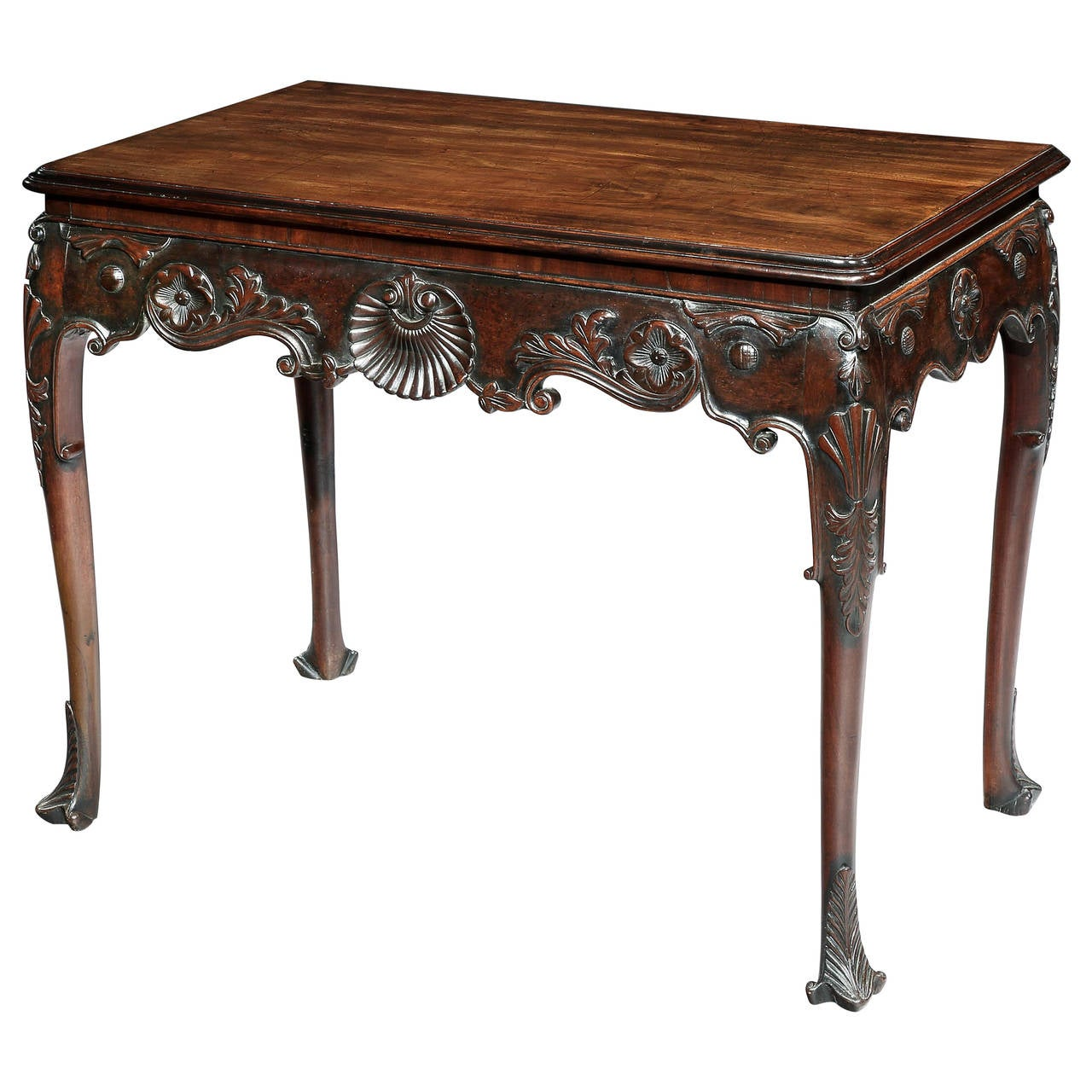 irish george iii mahogany console table for sale at 1stdibs. Black Bedroom Furniture Sets. Home Design Ideas