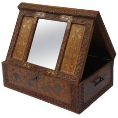 Jugendstil Travelling Box with Mirror
