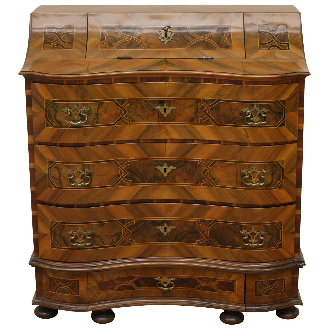 18th Century Baroque Commode and Secretaire