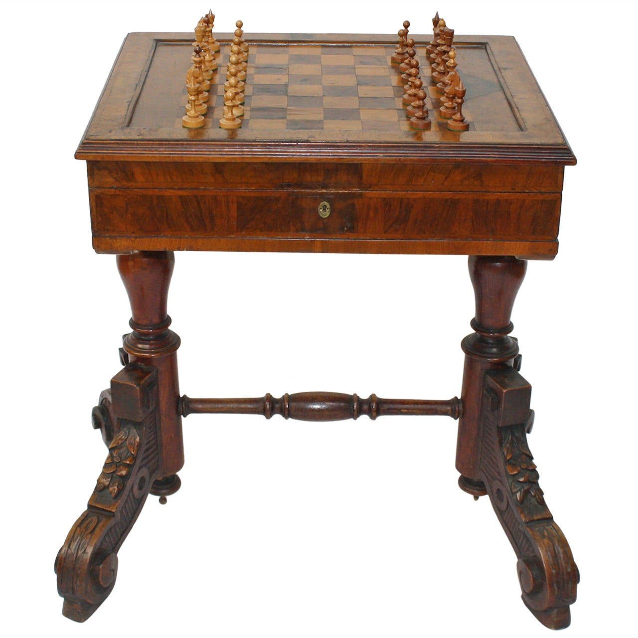 19th Century, Historicism Play Table For Chess And Backgammon 1