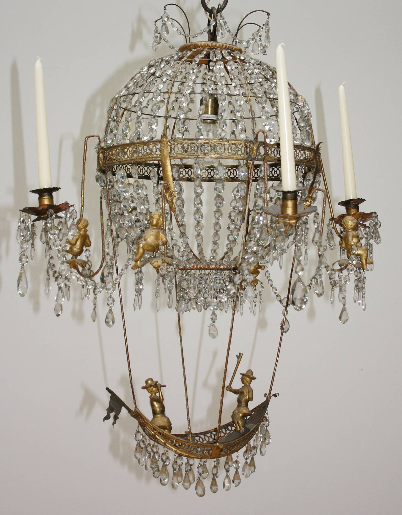 18th Century Pair of Montgolfier Chandeliers For Sale at 1stdibs