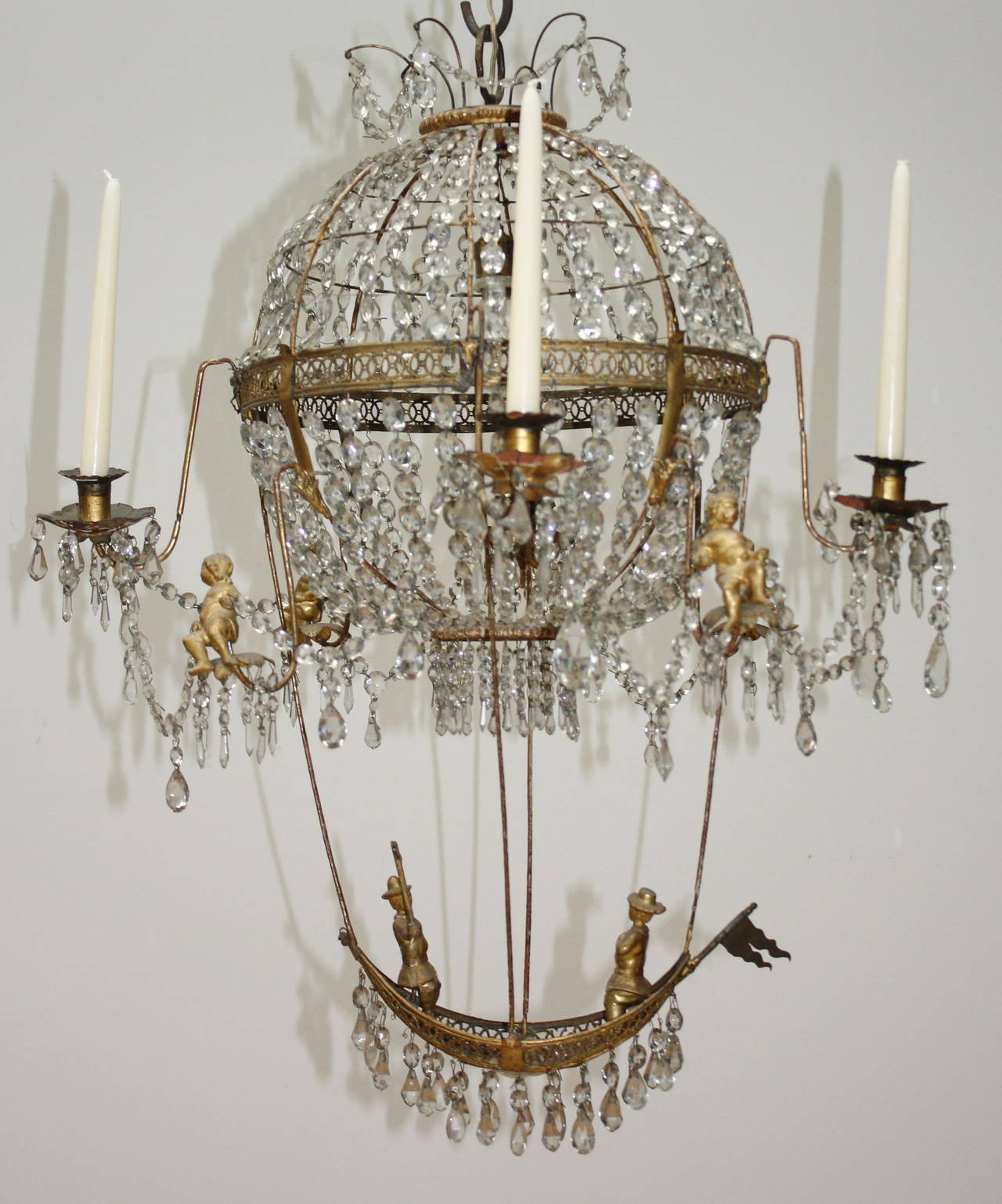 18th century pair of montgolfier chandeliers for sale at 1stdibs rare pair classicism montgolfier chandeliers light delicate made chandeliers the brothers montgolfier are the aloadofball Choice Image
